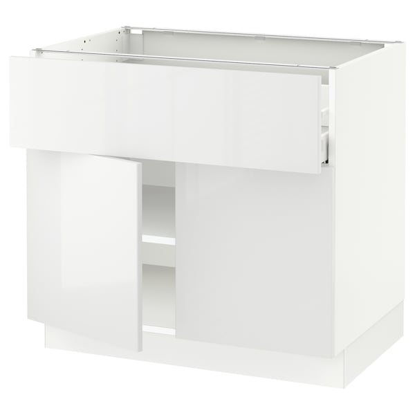 SEKTION / MAXIMERA Base cabinet with drawer/2 doors, white/Ringhult white, 36x24x30 ""