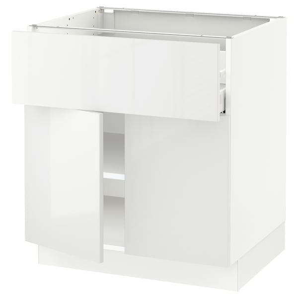 SEKTION / MAXIMERA Base cabinet with drawer/2 doors, white/Ringhult white, 30x24x30 ""