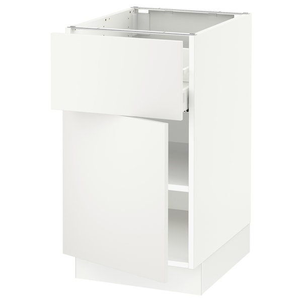 "SEKTION / MAXIMERA Base cabinet with drawer/door, white/Häggeby white, 18x24x30 """