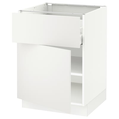 SEKTION / MAXIMERA Base cabinet with drawer/door, white/Häggeby white, 24x24x30 ""