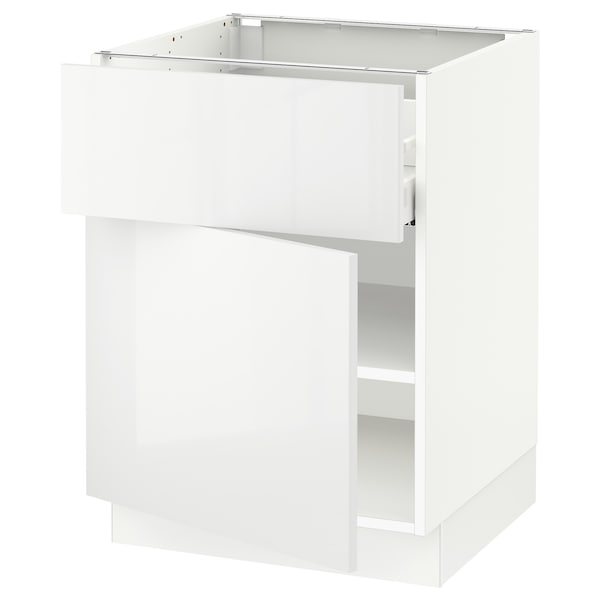 """SEKTION / MAXIMERA Base cabinet with drawer/door, white/Ringhult white, 24x24x30 """""""