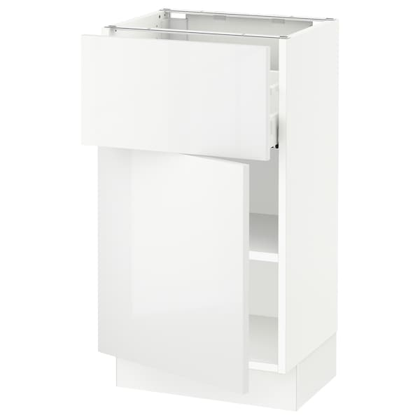 """SEKTION / MAXIMERA Base cabinet with drawer/door, white/Ringhult white, 18x15x30 """""""