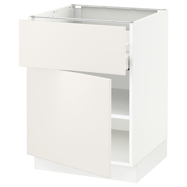 """SEKTION / MAXIMERA Base cabinet with drawer/door, white/Veddinge white, 24x24x30 """""""