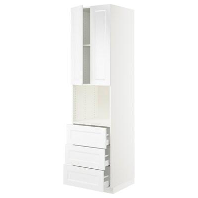 "SEKTION / MAXIMERA hi cb f micro w 3 drawers/2 doors white/Axstad matt white 24 "" 24 "" 24 3/4 "" 90 """