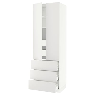 """SEKTION / MAXIMERA high cab w 2 drs/3 fronts/5 drawers white/Häggeby white 30 """" 24 """" 24 3/4 """" 90 """""""