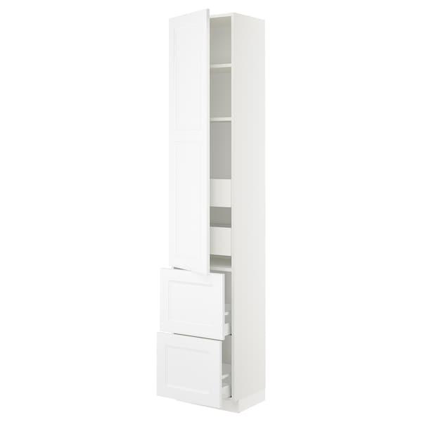 "SEKTION / MAXIMERA High cab w door/2 fronts/4 drawers, white/Axstad matt white, 18x15x90 """
