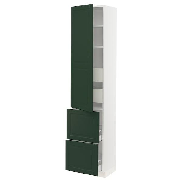 "SEKTION / MAXIMERA High cab w door/2 fronts/4 drawers, white/Bodbyn dark green, 18x15x80 """