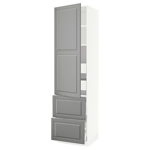 """SEKTION / MAXIMERA High cab w door/2 fronts/4 drawers, white/Bodbyn gray, 24x24x90 """""""