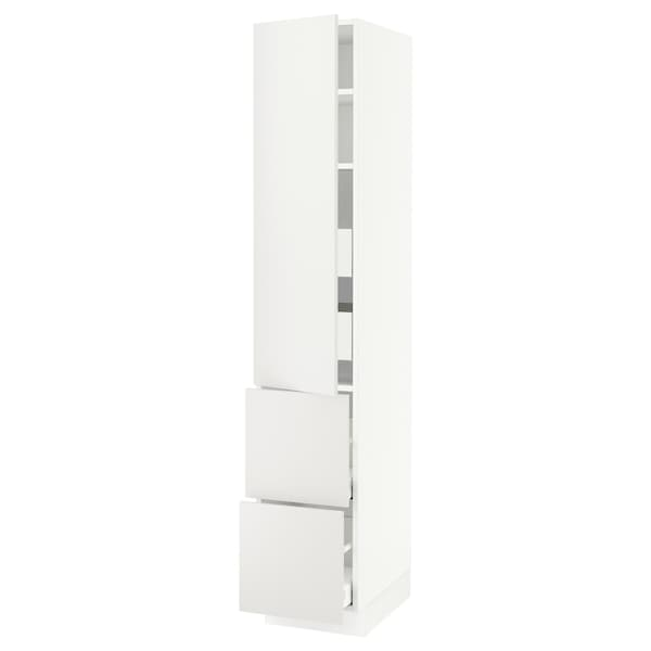 """SEKTION / MAXIMERA High cab w door/2 fronts/4 drawers, white/Häggeby white, 15x24x80 """""""