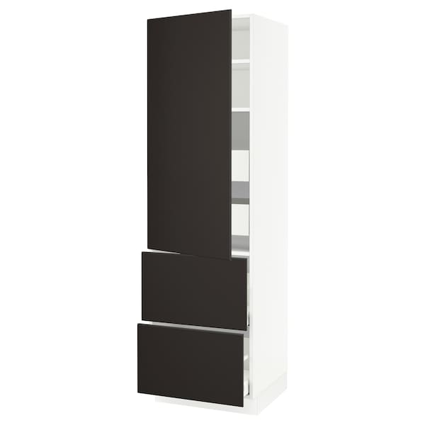 """SEKTION / MAXIMERA High cab w door/2 fronts/4 drawers, white/Kungsbacka anthracite, 24x24x80 """""""