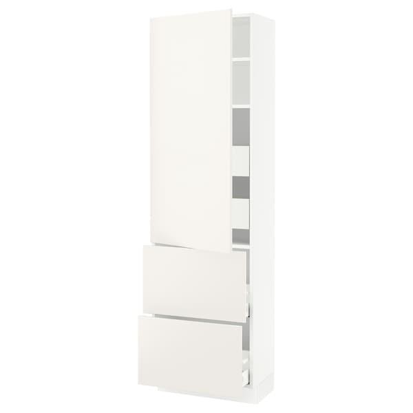 "SEKTION / MAXIMERA High cab w door/2 fronts/4 drawers, white/Veddinge white, 24x15x80 """