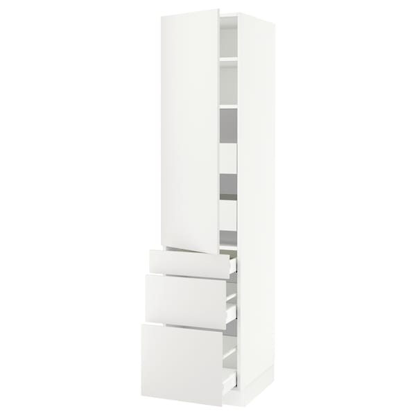 """SEKTION / MAXIMERA High cab w door/3 fronts/5 drawers, white/Häggeby white, 18x24x80 """""""