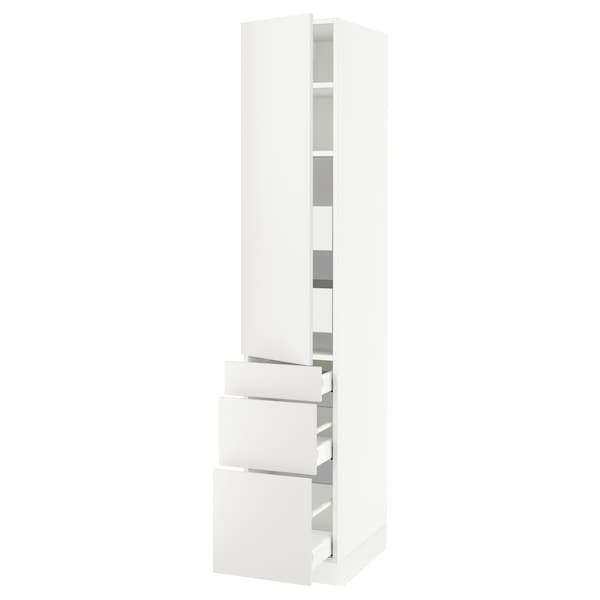 """SEKTION / MAXIMERA High cab w door/3 fronts/5 drawers, white/Häggeby white, 15x24x80 """""""