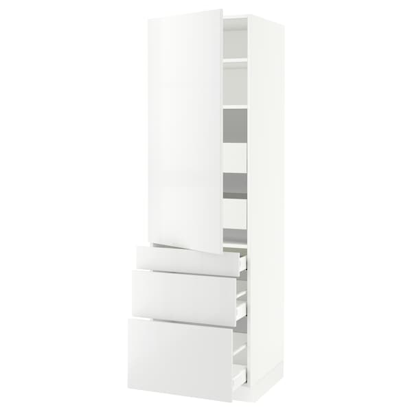 """SEKTION / MAXIMERA High cab w door/3 fronts/5 drawers, white/Ringhult white, 24x24x80 """""""