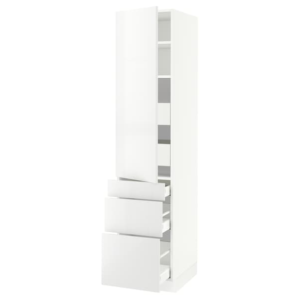 """SEKTION / MAXIMERA High cab w door/3 fronts/5 drawers, white/Ringhult white, 18x24x80 """""""