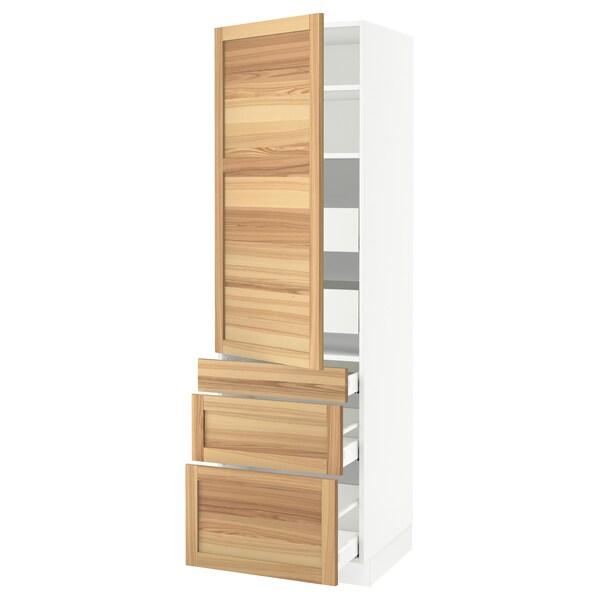 "SEKTION / MAXIMERA High cab w door/3 fronts/5 drawers, white/Torhamn ash, 24x24x80 """