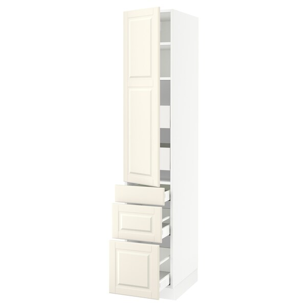 "SEKTION / MAXIMERA high cab w door/3 fronts/5 drawers white/Bodbyn off-white 15 "" 24 "" 24 3/4 "" 80 """