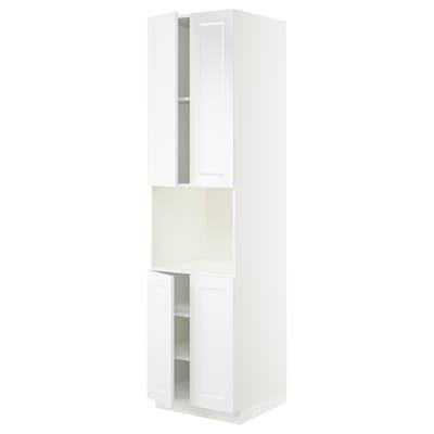 "SEKTION / MAXIMERA high cabinet for micro w 4 doors white/Axstad matt white 24 "" 24 "" 24 3/4 "" 90 """