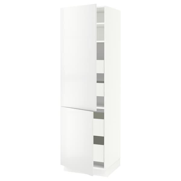 "SEKTION / MAXIMERA High cb w 2 doors/shelves/4 drawers, white/Ringhult white, 24x24x80 """