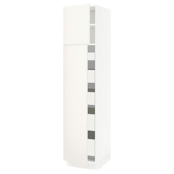 "SEKTION / MAXIMERA High cb w 2 doors/shelves/5 drawers, white/Veddinge white, 18x24x80 """