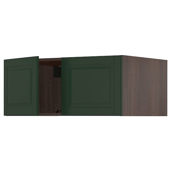 SEKTION Top cab f fridge/freezer w 2 doors, brown/Bodbyn dark green, 36x24x15 ""