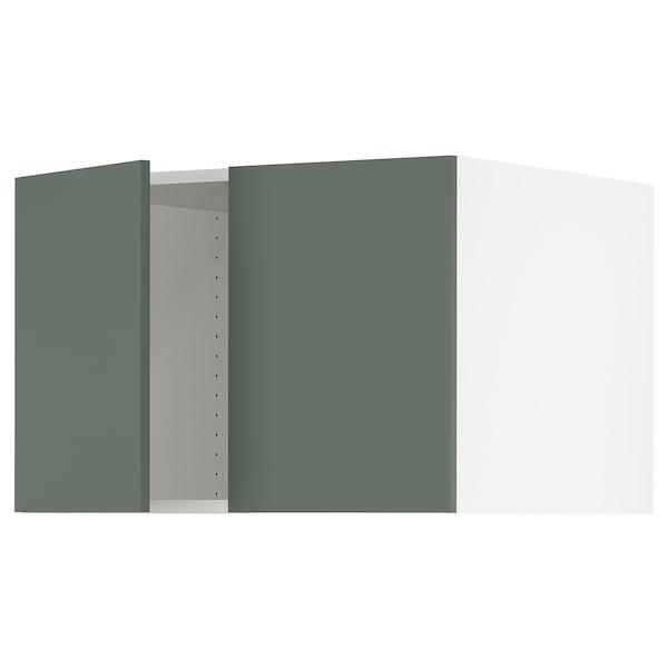 "SEKTION Top cab f fridge/freezer w 2 doors, white/Bodarp gray-green, 30x24x20 """
