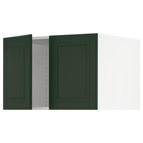 "SEKTION Top cab f fridge/freezer w 2 doors, white/Bodbyn dark green, 30x24x20 """