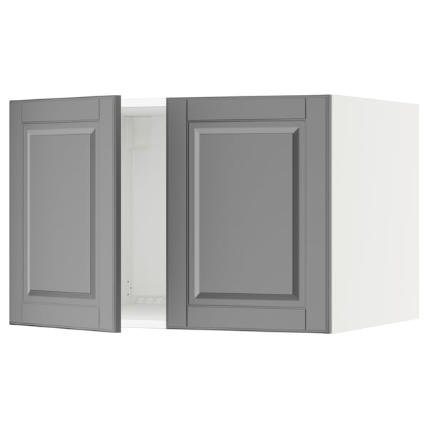 "SEKTION Top cab f fridge/freezer w 2 doors, white/Bodbyn gray, 30x24x20 """