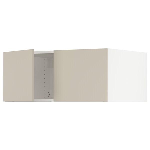 "SEKTION Top cab f fridge/freezer w 2 doors, white/Havstorp beige, 36x24x15 """