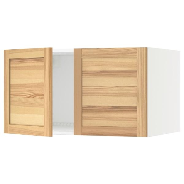 "SEKTION Top cab f fridge/freezer w 2 doors, white/Torhamn ash, 36x24x20 """