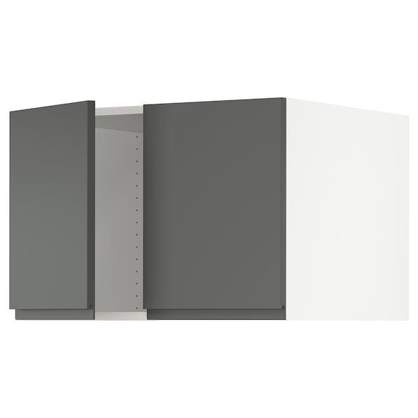 "SEKTION Top cab f fridge/freezer w 2 doors, white/Voxtorp dark gray, 30x24x20 """