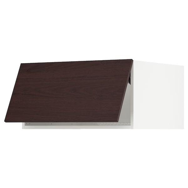 "SEKTION Top cabinet for fridge/freezer, white Askersund/dark brown ash effect, 30x24x15 """