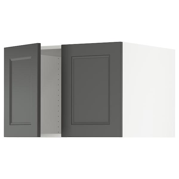 "SEKTION Top cabinet for fridge w/2 doors, white/Axstad dark gray, 30x24x20 """