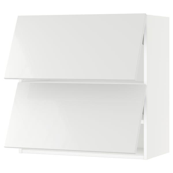 "SEKTION Wall cab horizo 2 doors w push-open, white/Ringhult white, 30x15x30 """