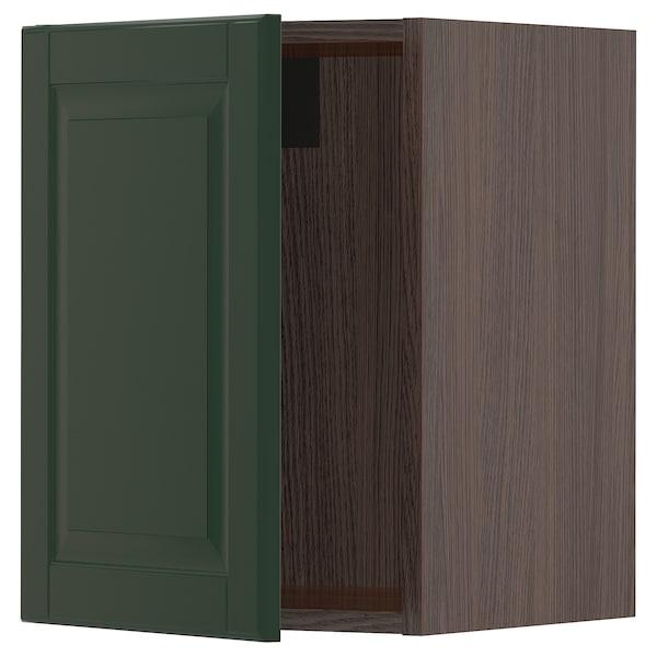 "SEKTION Wall cabinet, brown/Bodbyn dark green, 15x15x20 """
