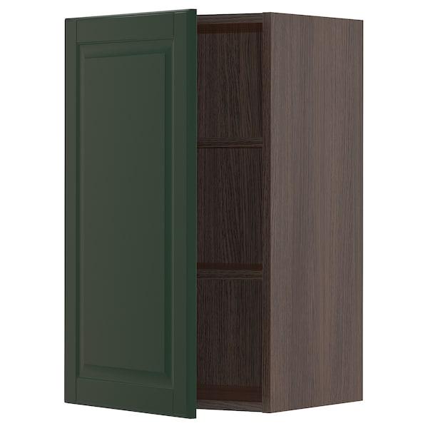 "SEKTION Wall cabinet, brown/Bodbyn dark green, 18x15x30 """