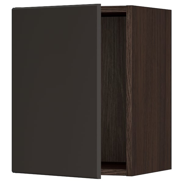 """SEKTION Wall cabinet, brown/Kungsbacka anthracite, 15x15x20 """""""