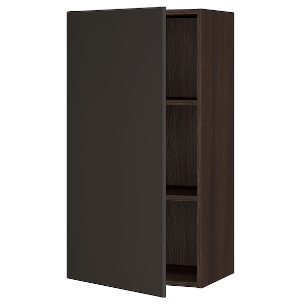 """SEKTION Wall cabinet, brown/Kungsbacka anthracite, 21x15x40 """""""