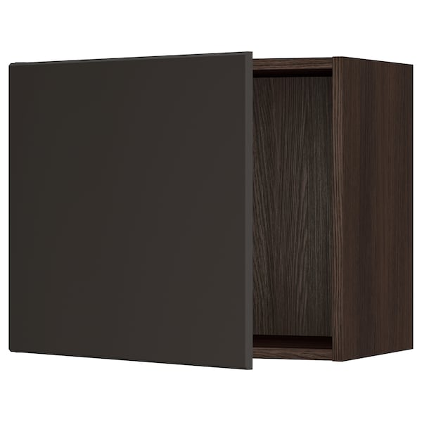"""SEKTION Wall cabinet, brown/Kungsbacka anthracite, 24x15x20 """""""