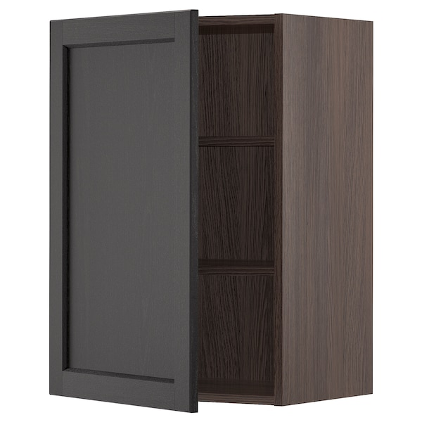 """SEKTION Wall cabinet, brown/Lerhyttan black stained, 21x15x30 """""""