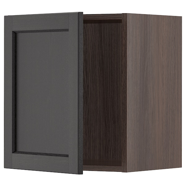 """SEKTION Wall cabinet, brown/Lerhyttan black stained, 18x15x20 """""""