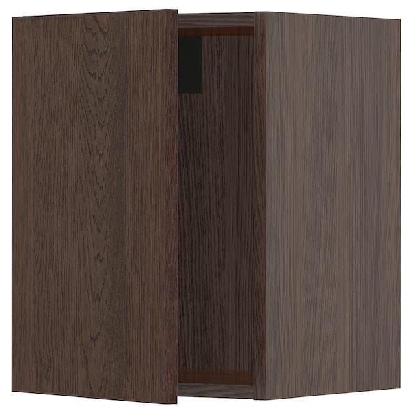 "SEKTION Wall cabinet, brown/Sinarp brown, 15x15x20 """