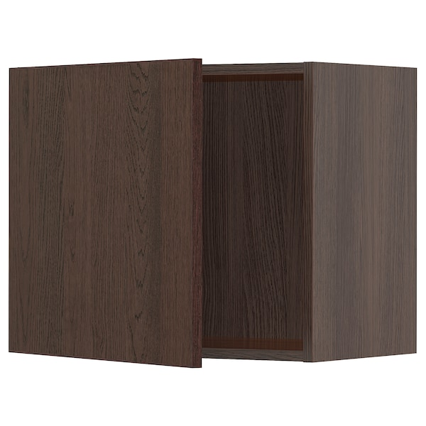 "SEKTION Wall cabinet, brown/Sinarp brown, 24x15x20 """