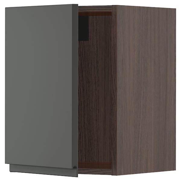 """SEKTION Wall cabinet, brown/Voxtorp dark gray, 15x15x20 """""""