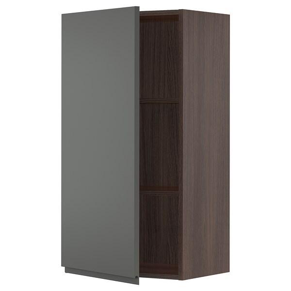 """SEKTION Wall cabinet, brown/Voxtorp dark gray, 21x15x40 """""""