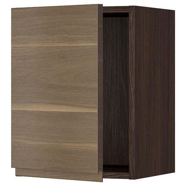 "SEKTION Wall cabinet, brown/Voxtorp walnut effect, 15x15x20 """