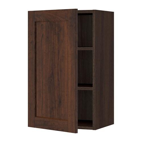 Sektion Wall Cabinet Wood Effect Brown Edserum Wood Effect Brown 18x15x30 Ikea