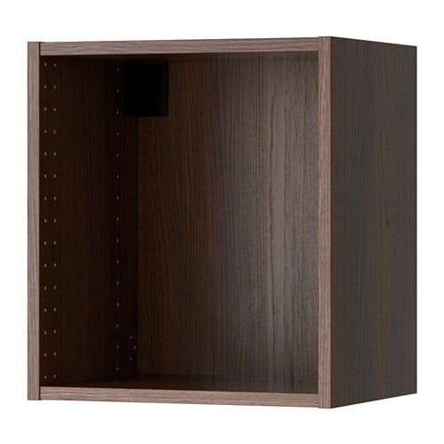 Sektion Wall Cabinet Frame Wood Effect Brown 18x14 34x20 Ikea