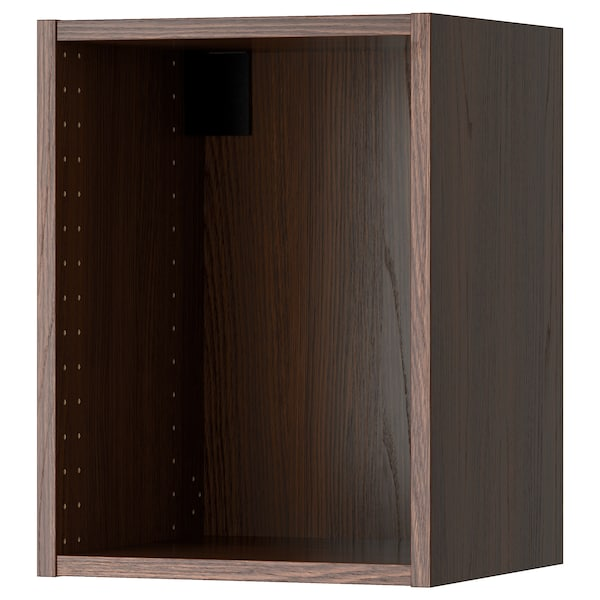 SEKTION Wall cabinet frame, wood effect brown, 15x14 3/4x20 ""