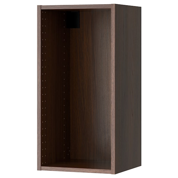 """SEKTION Wall cabinet frame, wood effect brown, 15x14 3/4x30 """""""